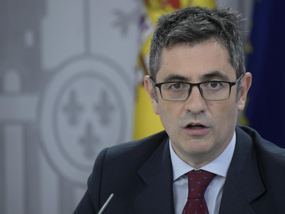 Félix Bolaños, ministro de la Presidencia.