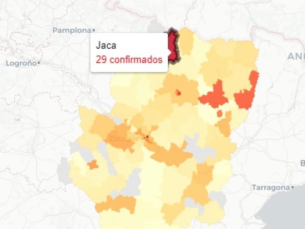 Los casos de covid en la provincia de Huesca se encuentran disparados.
