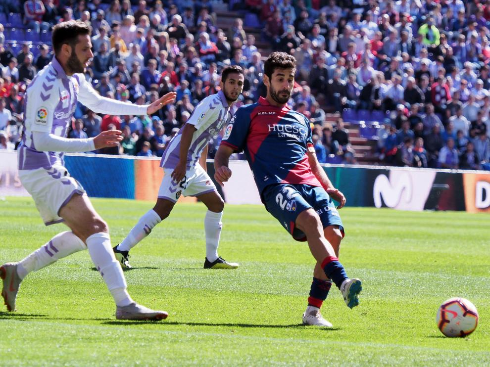 Lluis Sastre en un partido contra el Valladolid en Primera División.