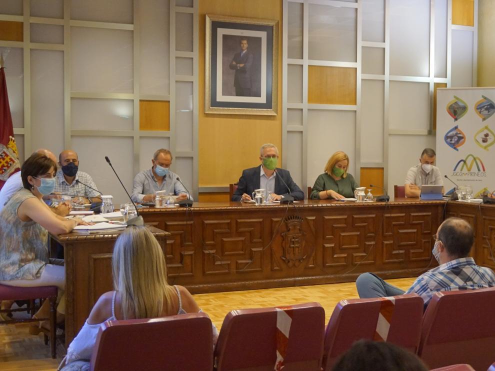 Pleno ordinario del Ayuntamiento de Jaca celebrado a última hora del pasado miércoles