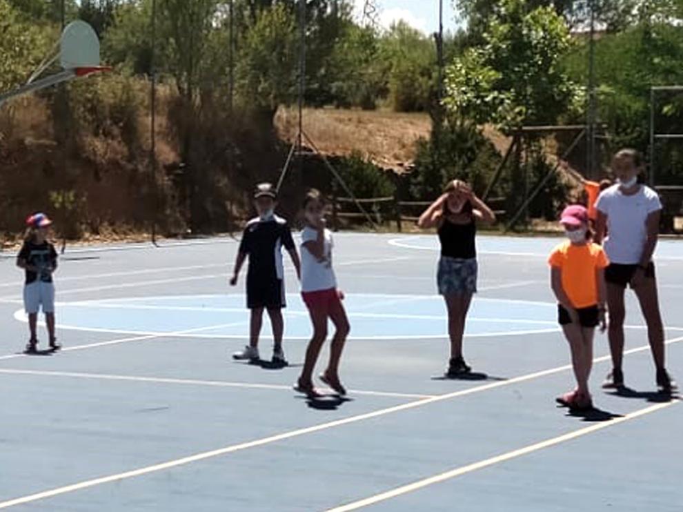 Los niños de la escuela de verano de Javierregay