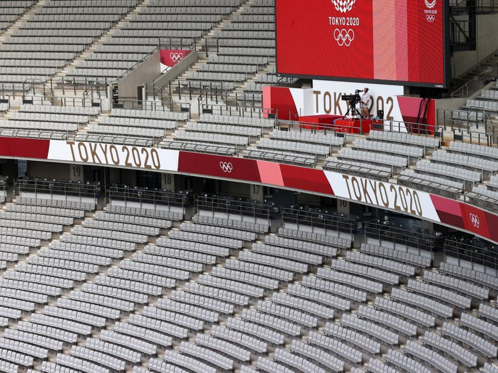 Se ultiman los preparativos en el estadio olímpico, que cerrará sus puertas al público
