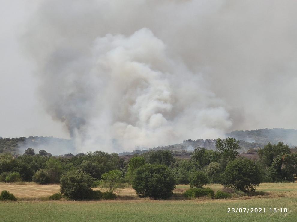 El fuego ha partido de un campo situado a unos 2 kilómetros del casco urbano.