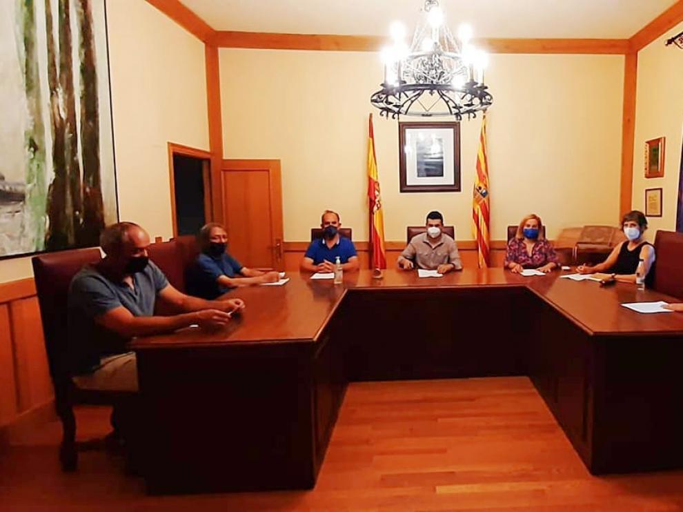 La reunión se ha celebrado en el Ayuntamiento de Canfranc.
