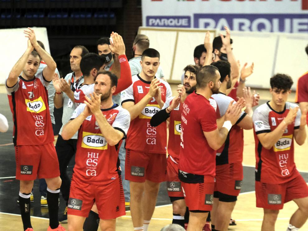 Jugadores de Bada Huesca en la temporada pasada