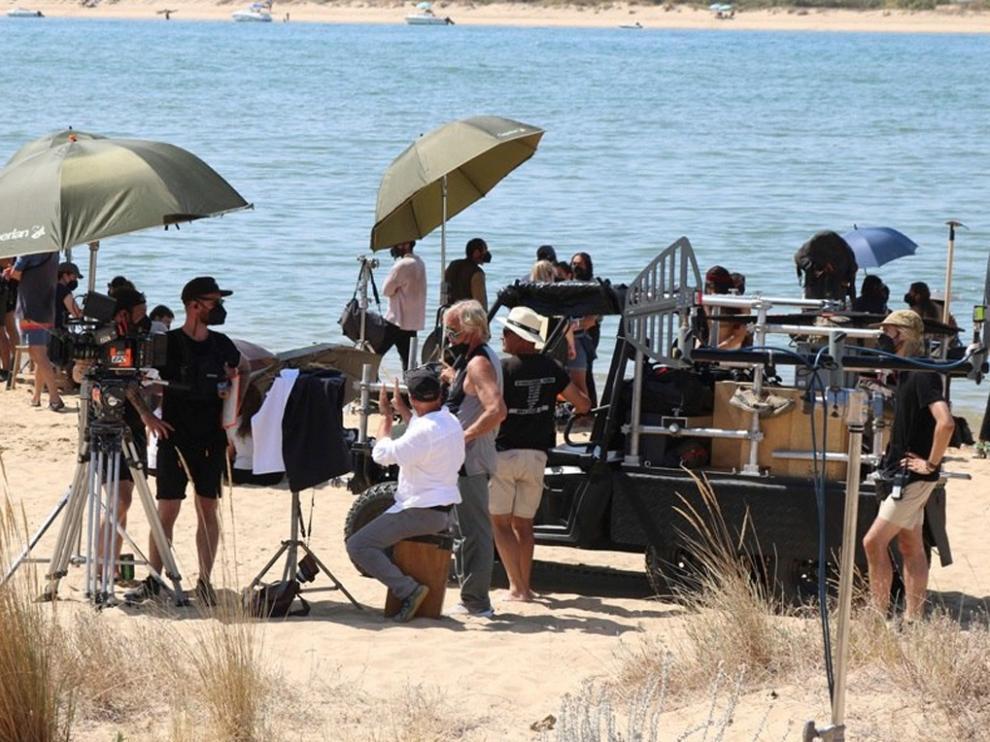 Rodaje en la playa de Huelva