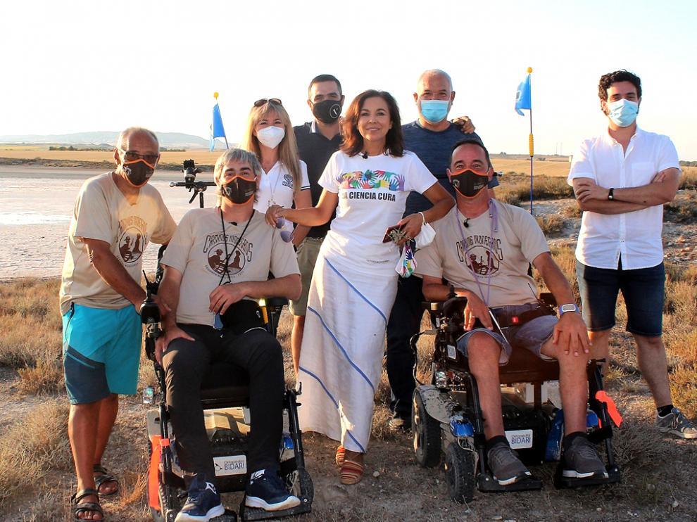 Isabel Gemio participó en el documental con la grabación este lunes de una charla en las saladas de Bujaraloz