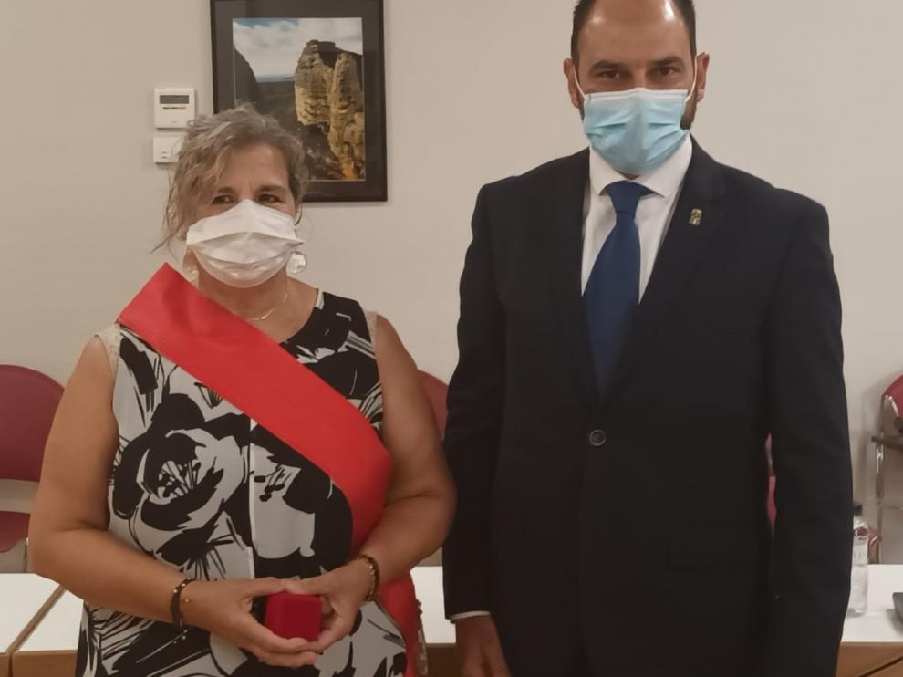 María José Grande y Fernando Torres, en el pleno municipal de este martes