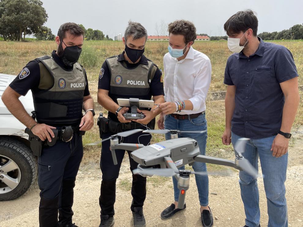 Monzón va a ser pionera en el uso del dron como herramienta de trabajo para nuestra policía rural