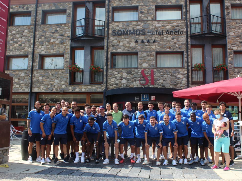 El Huesca ha estado desde el domingo en Benasque.