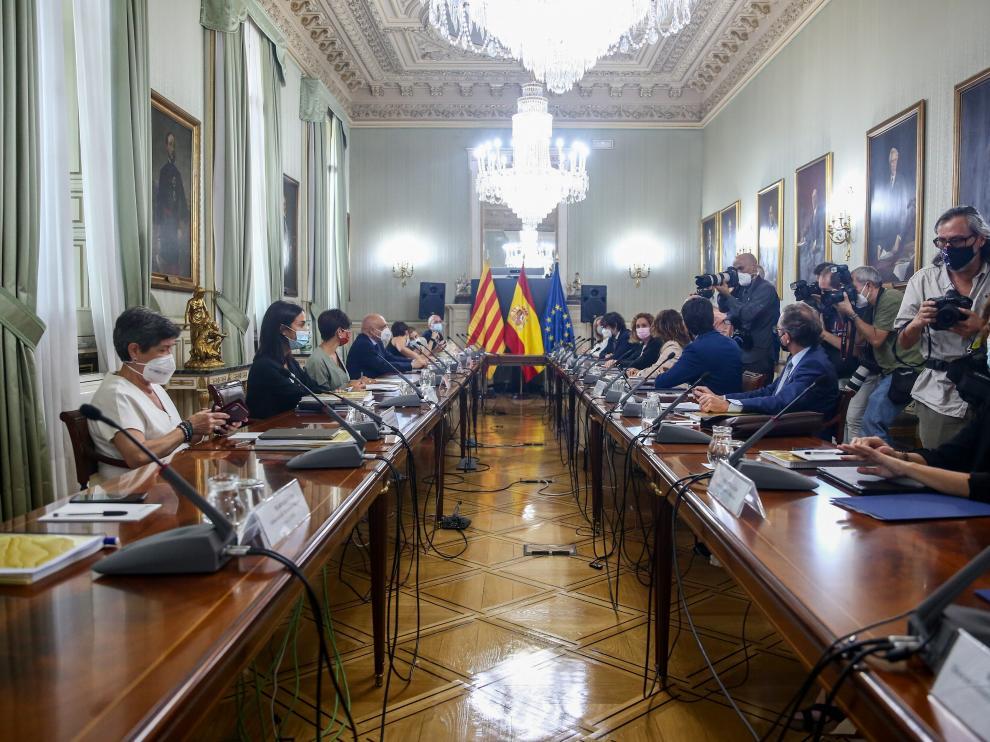 Reunión mantenida este lunes entre la comisión Estado-Generalitat de Cataluña.