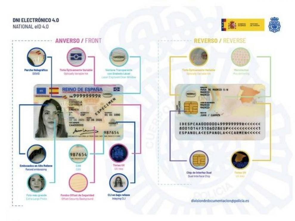 Los ciudadanos españoles obtienen desde este lunes el nuevo DNI Europeo.