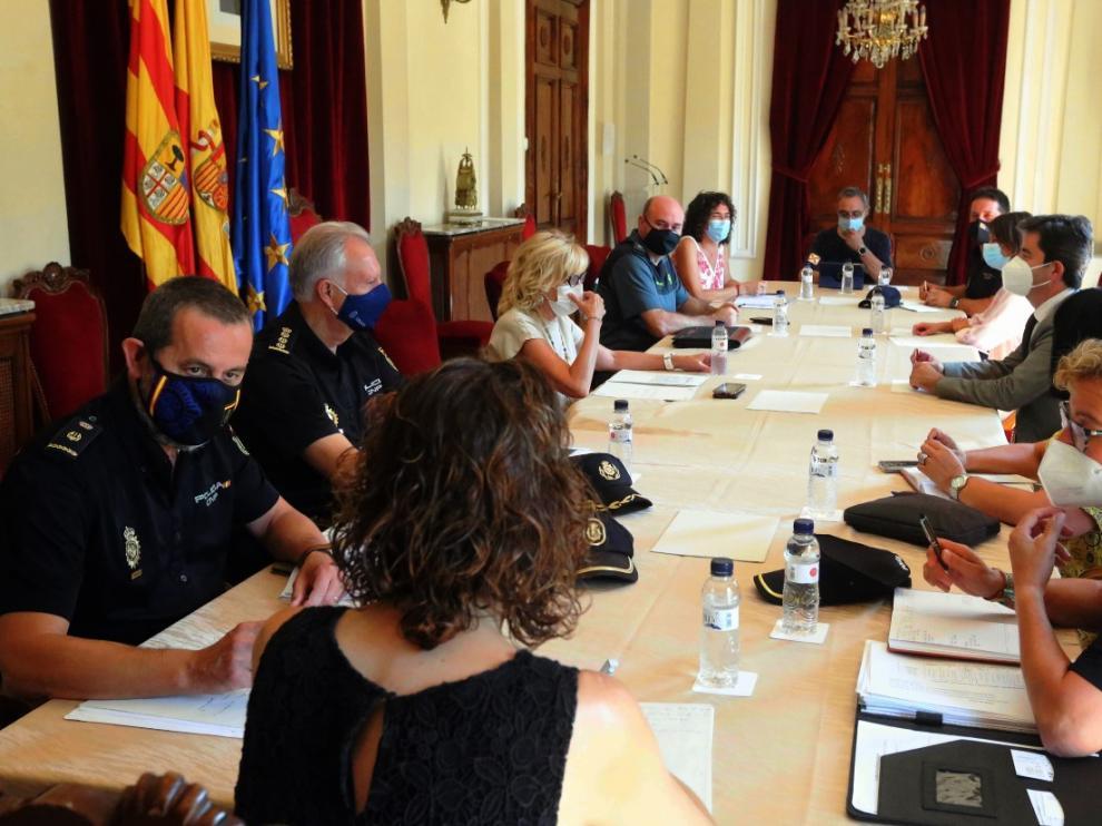 La Junta de Seguridad ultima el dispositivo en la ciudad de Huesca ante las fechas de San Lorenzo