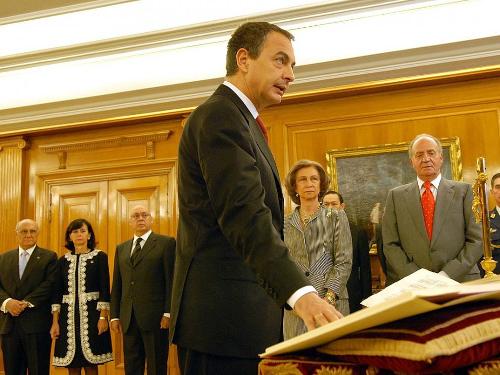 José Luis Rodríguez Zapatero en su jura como presidente.