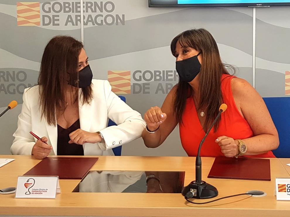 García Fuentes y Repollés, tras la firma del acuerdo