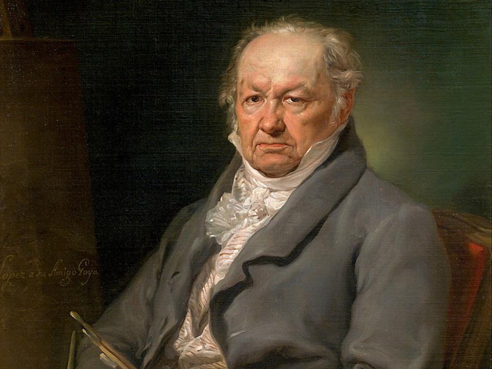 Retrato del pintor Francisco de Goya (1826), por Vicente López, Museo del Prado