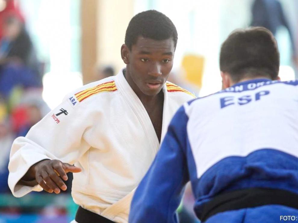 El barbastrense Moussa Macalou, bronce en el Campeonato de España Junior en la categoría -73kg