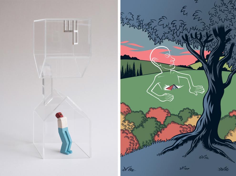 Ilustraciones de Isidro Ferrer y Bernardo Bergara