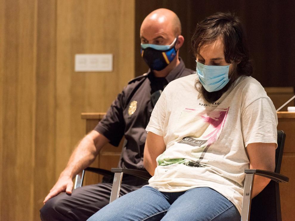 Iván Pardo, en la vista del juicio por el crimen de Naiara en septiembre del 2020.