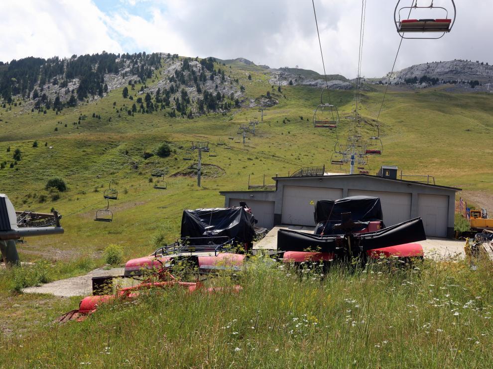 Foto reciente de la estación de esquí de Candanchú.