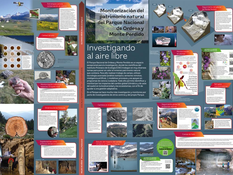 Panel de la exposición del Instituto Pirenaico de Ecología que se mostrará en el Centro de Interpretación en Torla