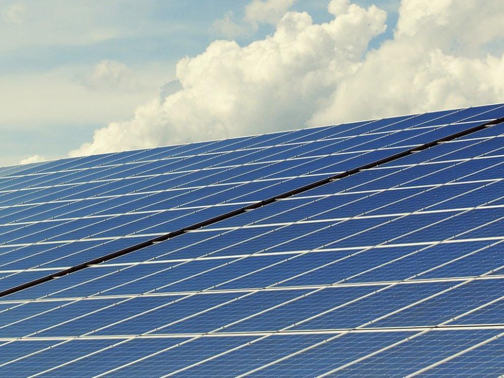 Paneles de una instalación solar fotovoltaica