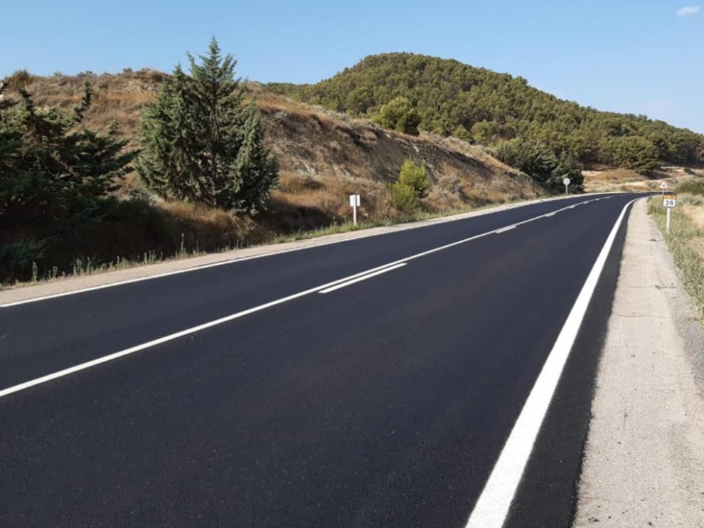 Tramo de la carretera Alcubierre