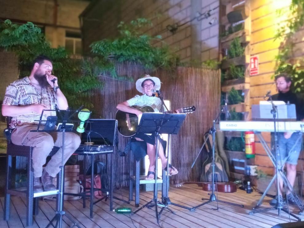 Alicia Canguero, en el concierto que ofreció el pasado mes de julio en Vitelli Terrazza.