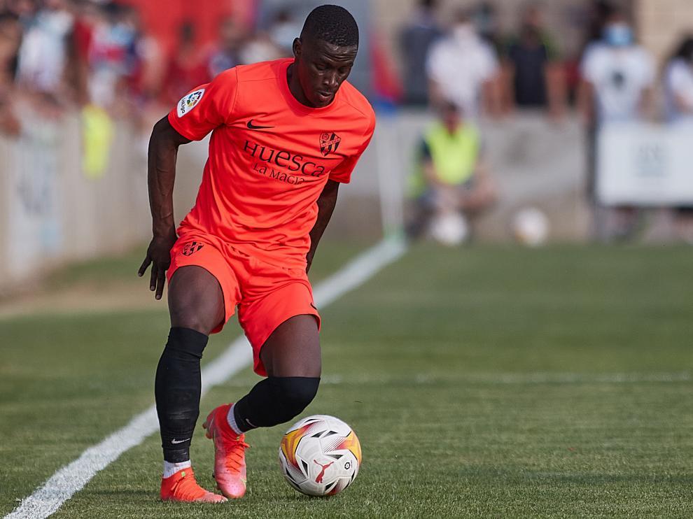 Juan Peñaloza ha tenido muchos minutos esta pretemporada con el Huesca.