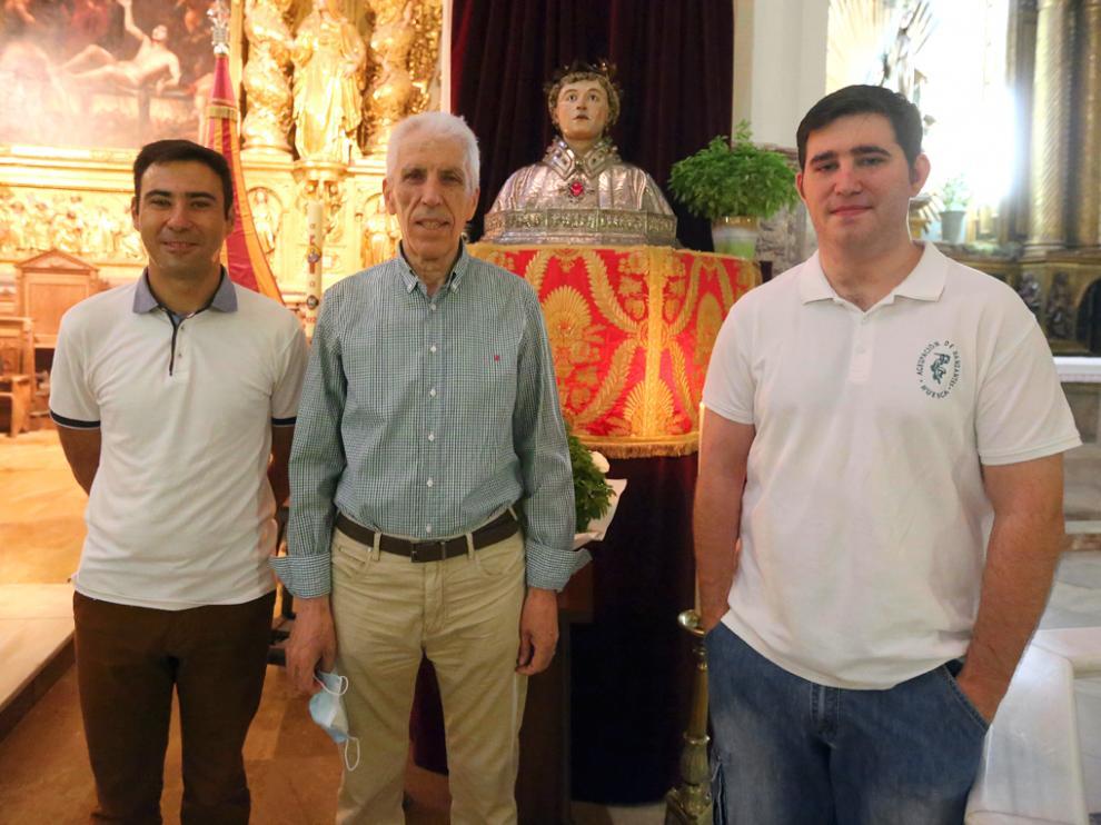 Carlos Nasarre, José Luis Ramos y Abraham Gabás   es`pecial san lorenzo      6 - 8 - 21      foto pablo segura