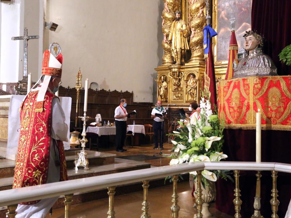 El Triduo en honor a San Lorenzo terminó con la eucaristía y con el canto del himno al santo de la mano del corro parroquial