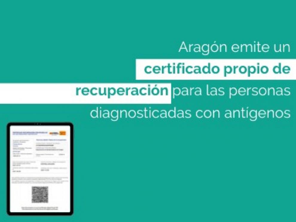 Certificado antígenos Aragón Covid19