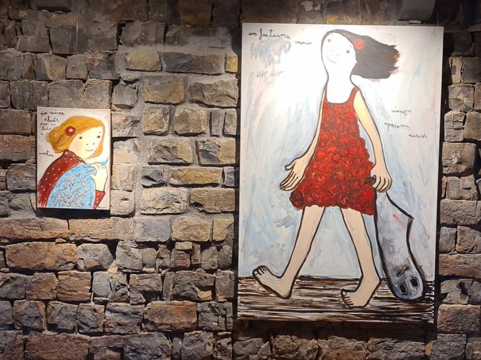 La colección Vida de Eva Armisén se exhibe en el torreón medieval de Sinués