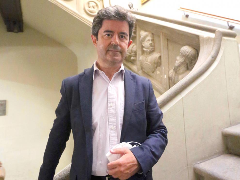 Luis Felipe, el alcalde de Huesca alcalde huesca   san lorenzo    foto pablo segura 4 -7 - 21