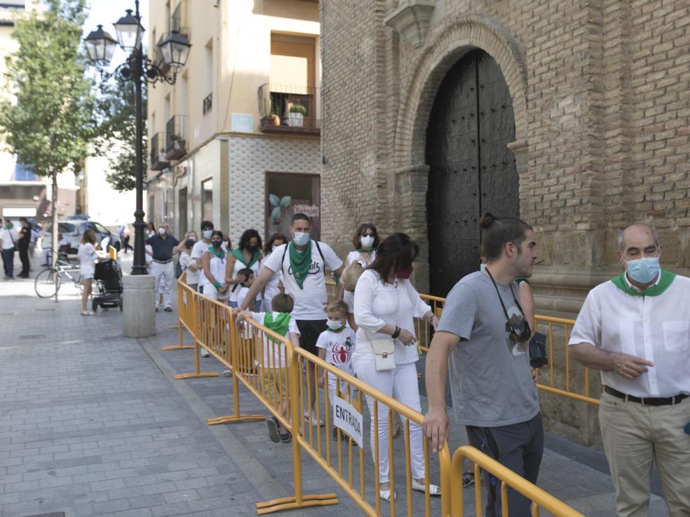 No fiestas de Huesca. Misa de San Lorenzo con el Obispo /10-08-2021 / Foto Rafael Gobantes[[[DDA FOTOGRAFOS]]]
