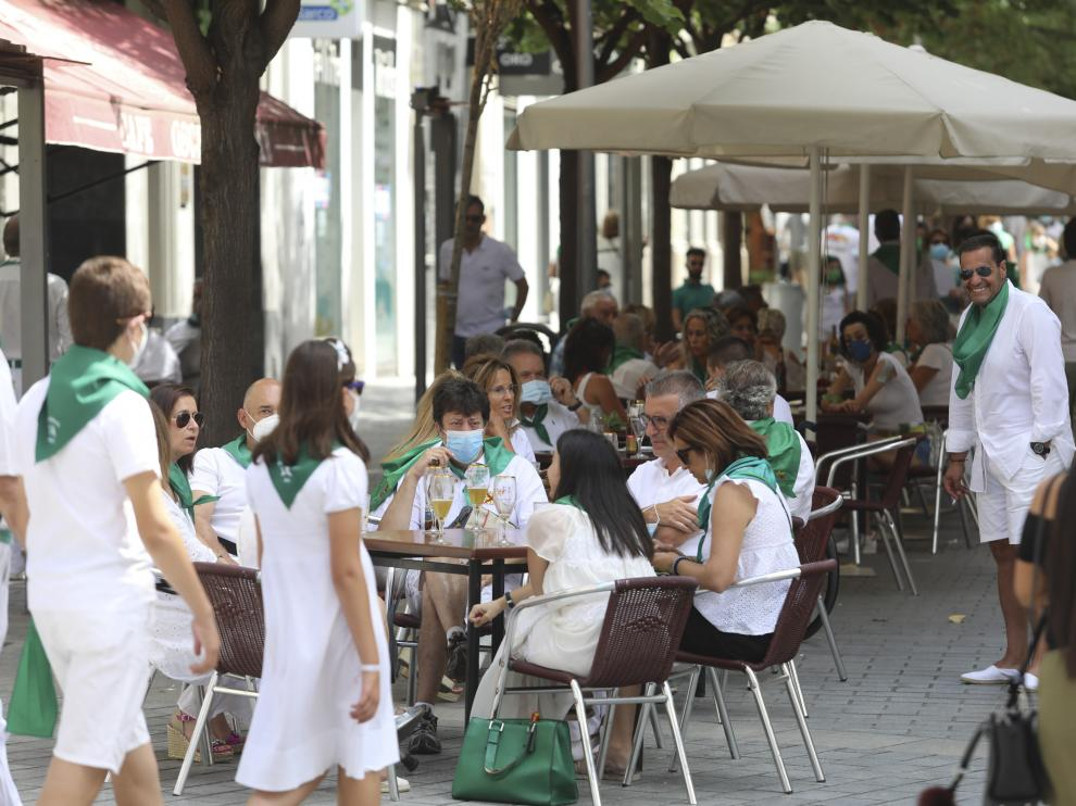 No fiestas de Huesca. Colas en San Lorenzo  /10-08-2021 / Foto Rafael Gobantes[[[DDA FOTOGRAFOS]]]