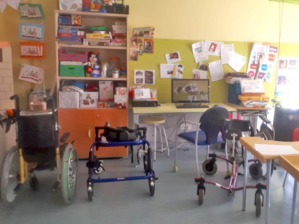 Un aula de un centro de Educación Especial de la provincia altoaragonesa