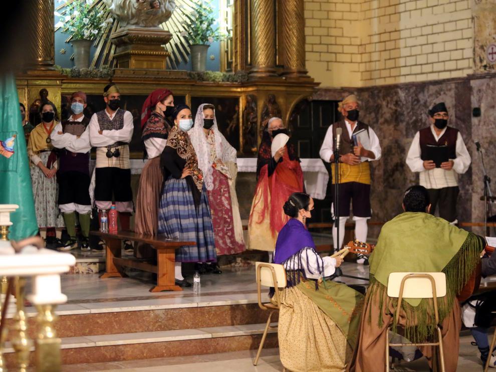 La Agrupación de Santa Cecilia durante la misa de los cofrades