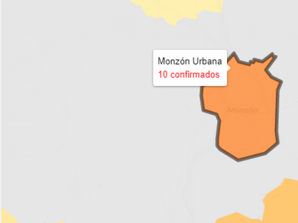 La zona de salud de Monzón Urbano registra 10 nuevos casos