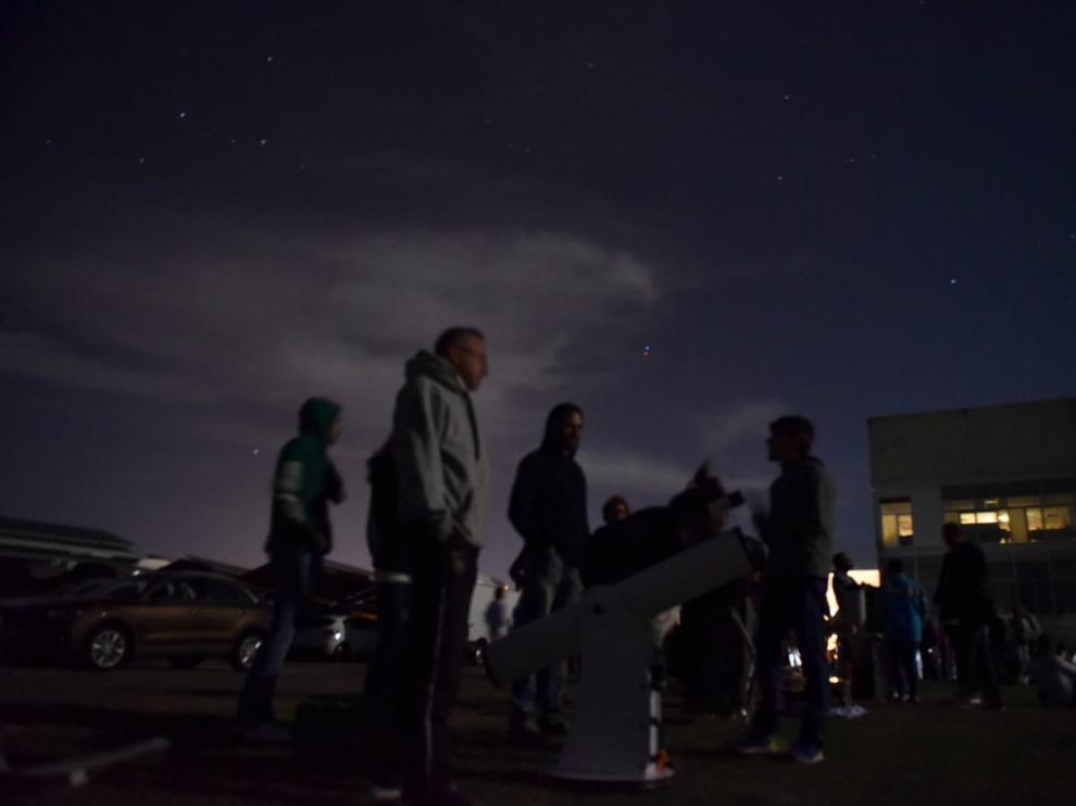 Observación de las perseidas en el Planetario