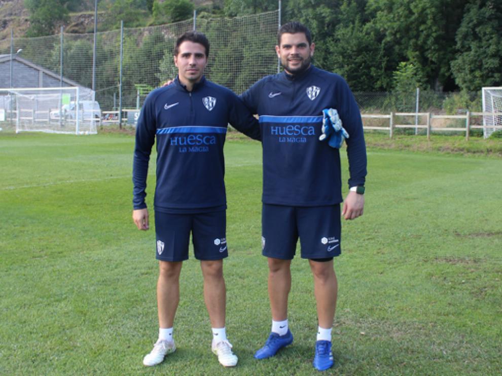 Sipán y Mallén, los oscenses en el cuerpo técnico del Huesca.