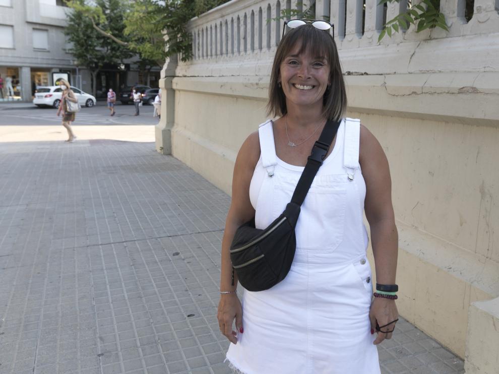 Ana Lite, presidenta de la peña 10 D'Agosto.