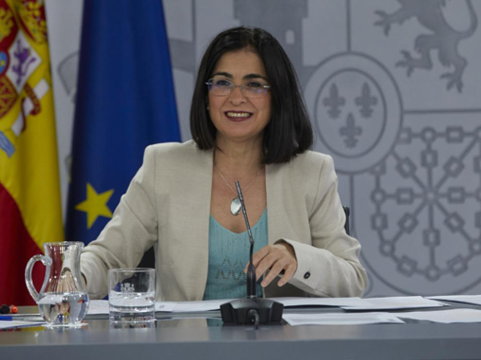 Carolina Darias durante una rueda de prensa.