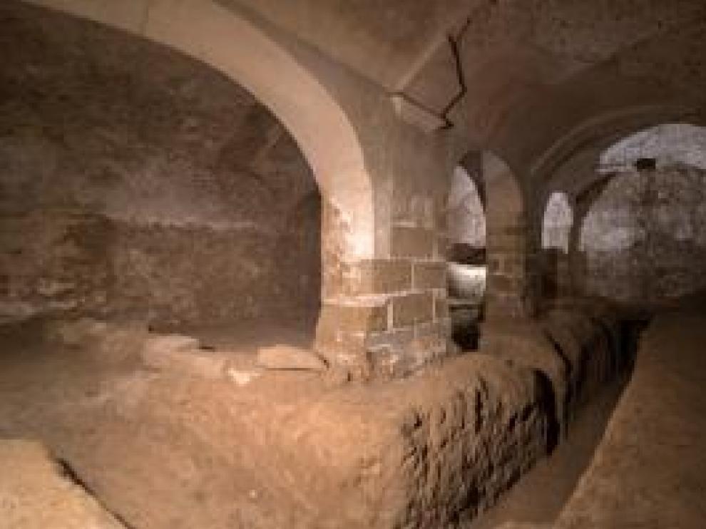 Interior del polvorín descubierto en Cartuja de las Fuentes