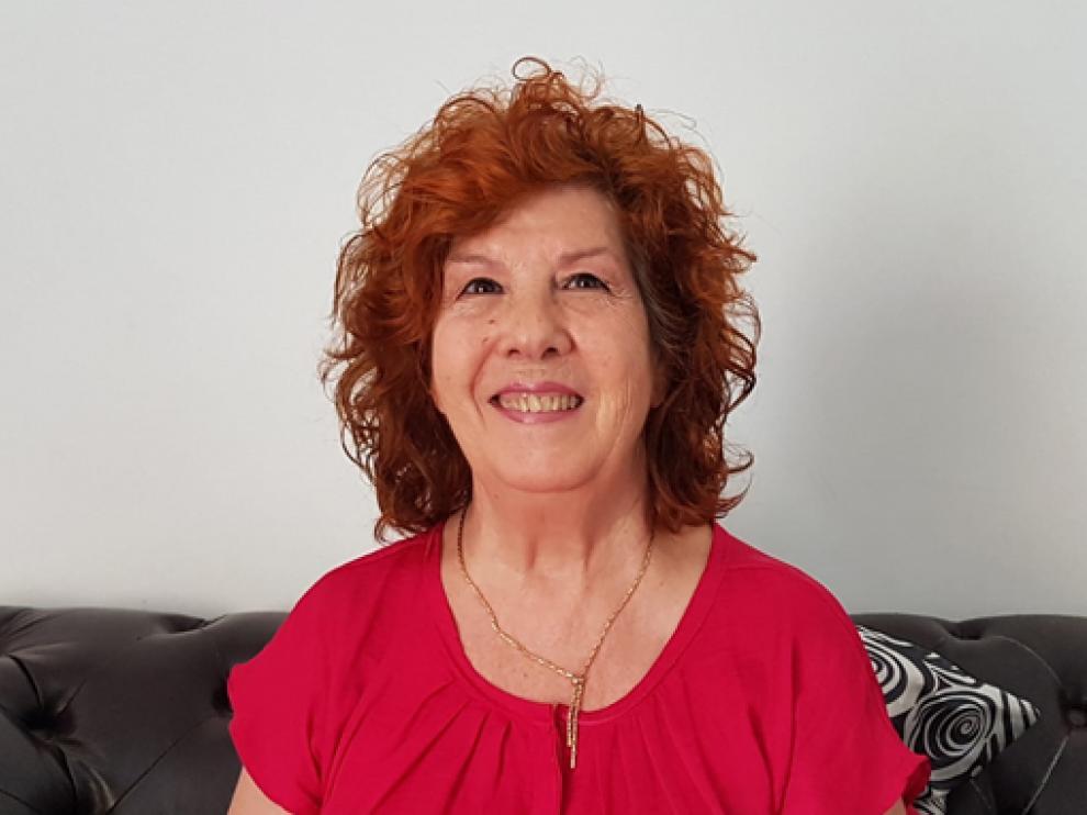 Irene Flores, presidenta de la peña Os Casaus.