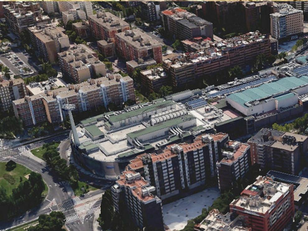 Vista aérea del barrio del Actur en Zaragoza