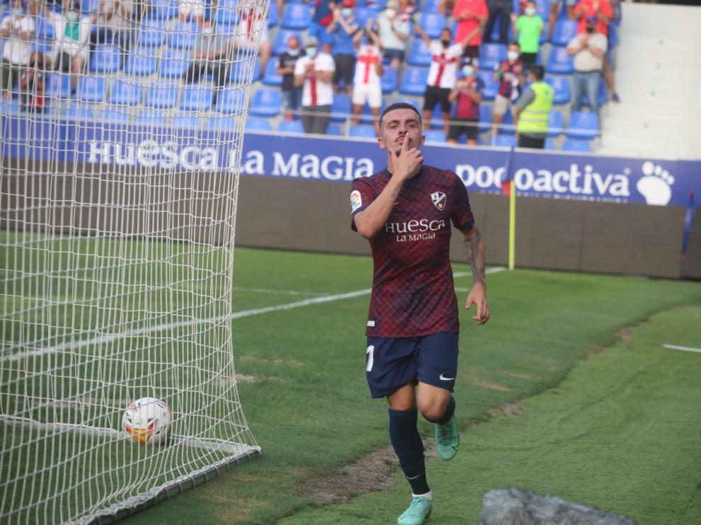 El Huesca se ha impuesto por dos goles.