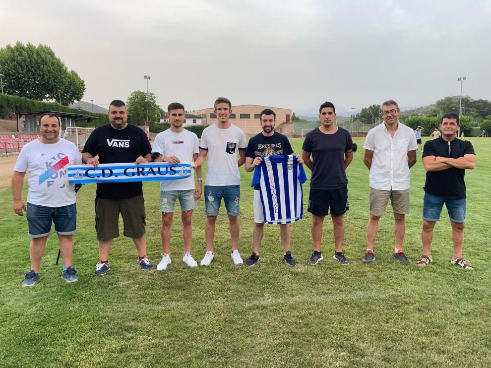 Miembros de la nueva junta directiva del club ribagorzano.