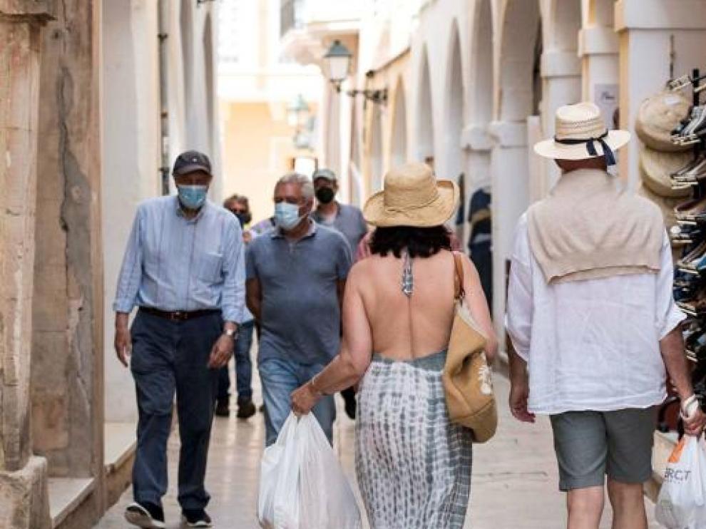 Turistas en Menorca