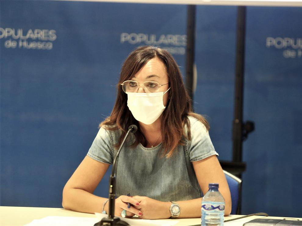 Gemma Allué, portavoz del Partido Popular en Huesca.
